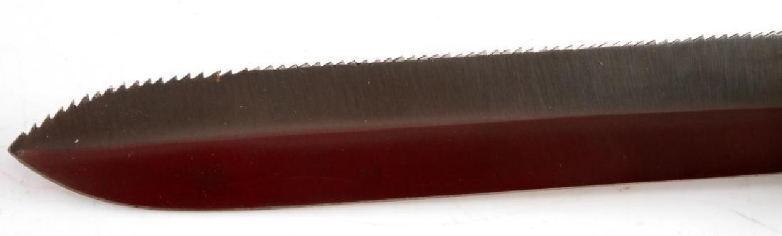 US NAVY VINTAGE BRASS DIVERS SERRATED KNIFE - 3