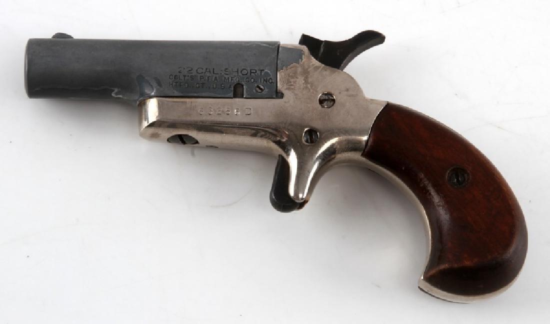 COLT .22 CAL SINGLE SHOT POCKET PISTOL DERRINGER - 2