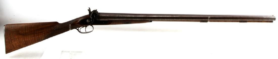 LAMINATED STEEL DBL BARREL SXS 12 GA SHOTGUN