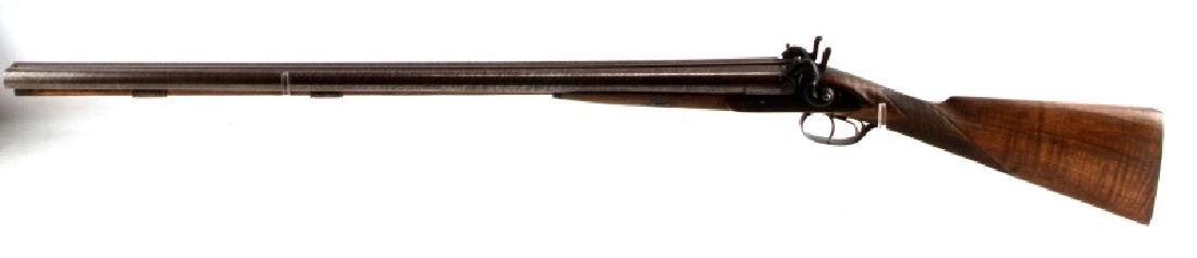 LAMINATED STEEL DBL BARREL SXS 12 GA SHOTGUN - 6