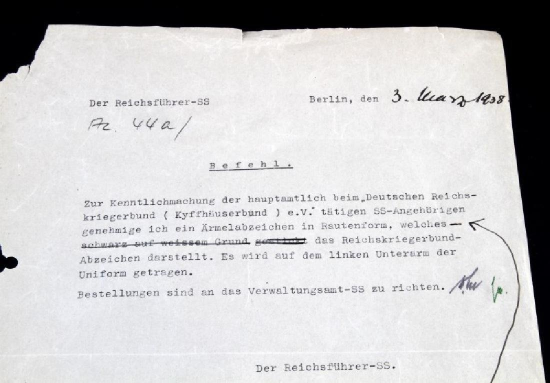 WWII GERMAN HEINRICH HIMMLER SIGNED DOCUMENT - 2