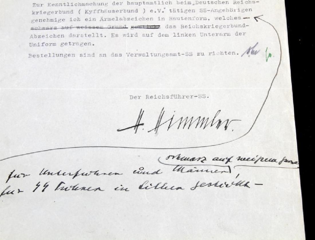 WWII GERMAN HEINRICH HIMMLER SIGNED DOCUMENT - 3