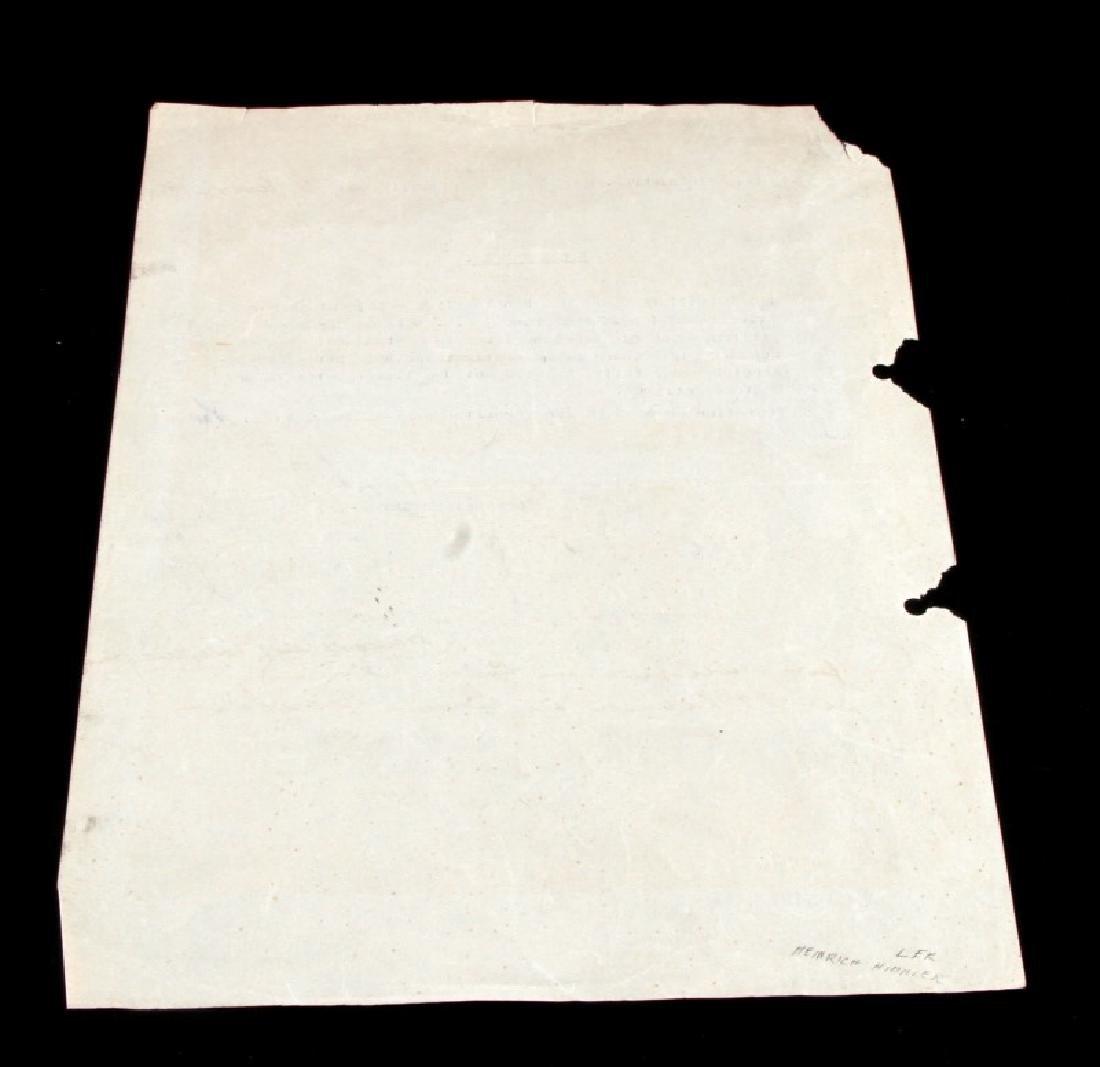 WWII GERMAN HEINRICH HIMMLER SIGNED DOCUMENT - 4
