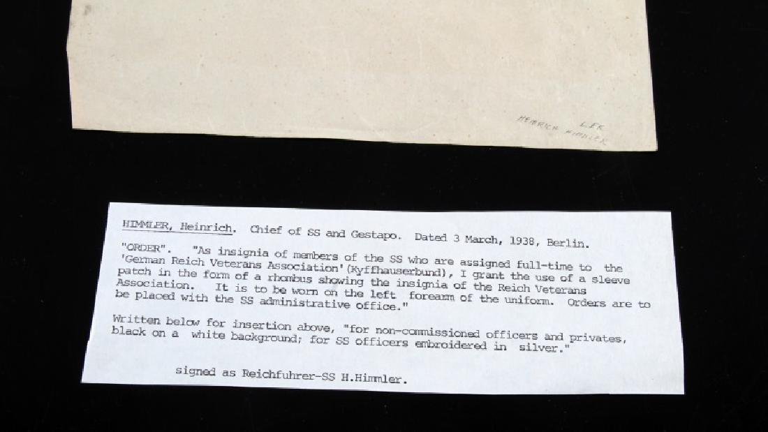 WWII GERMAN HEINRICH HIMMLER SIGNED DOCUMENT - 5