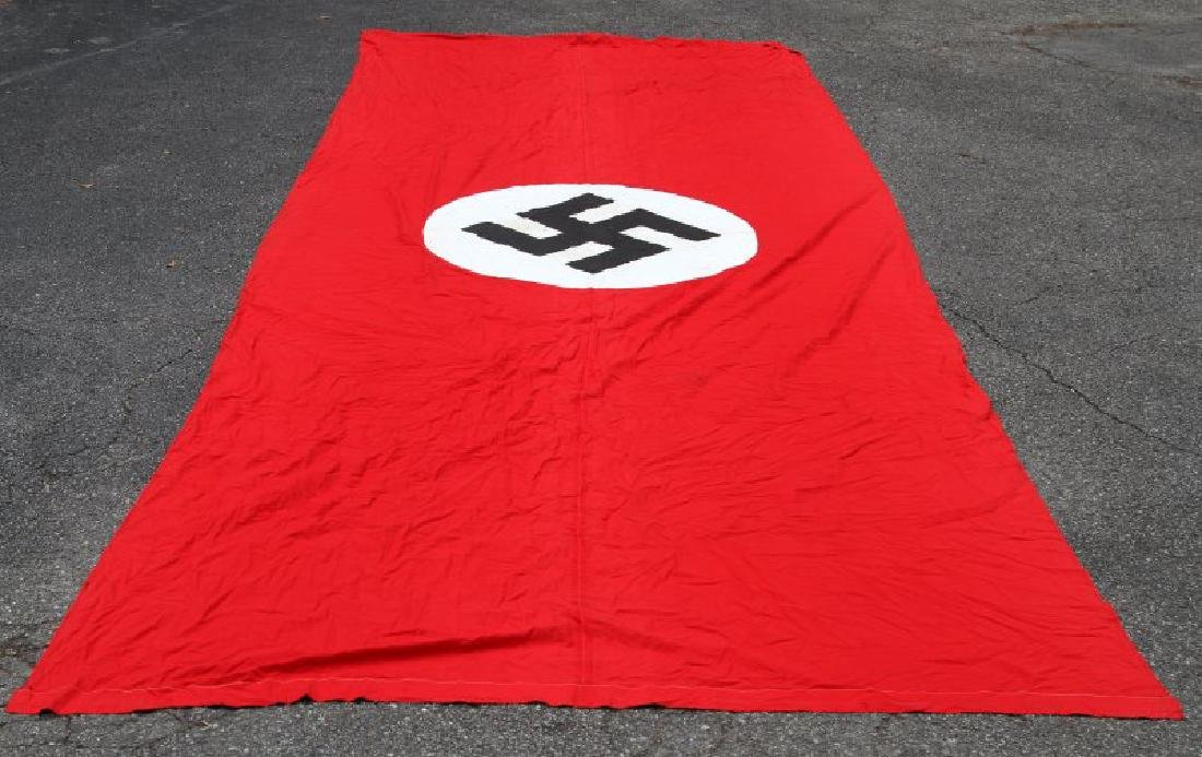 22 FOOT LONG WWII GERMAN NSDAP MARKED PARTY BANNER