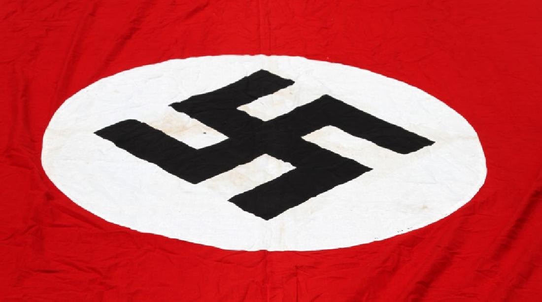 22 FOOT LONG WWII GERMAN NSDAP MARKED PARTY BANNER - 2