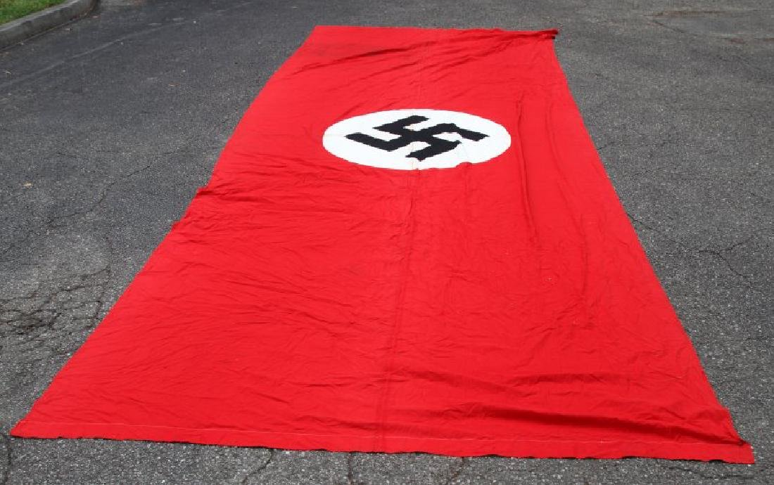 22 FOOT LONG WWII GERMAN NSDAP MARKED PARTY BANNER - 3