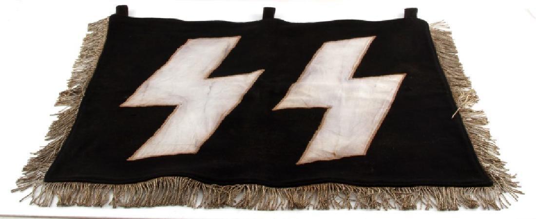 WWII GERMAN THIRD REICH SS WOLFSANGEL BLACK BANNER
