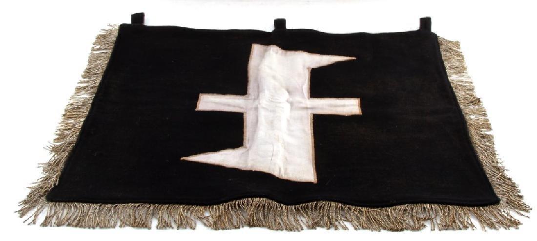 WWII GERMAN THIRD REICH SS WOLFSANGEL BLACK BANNER - 5
