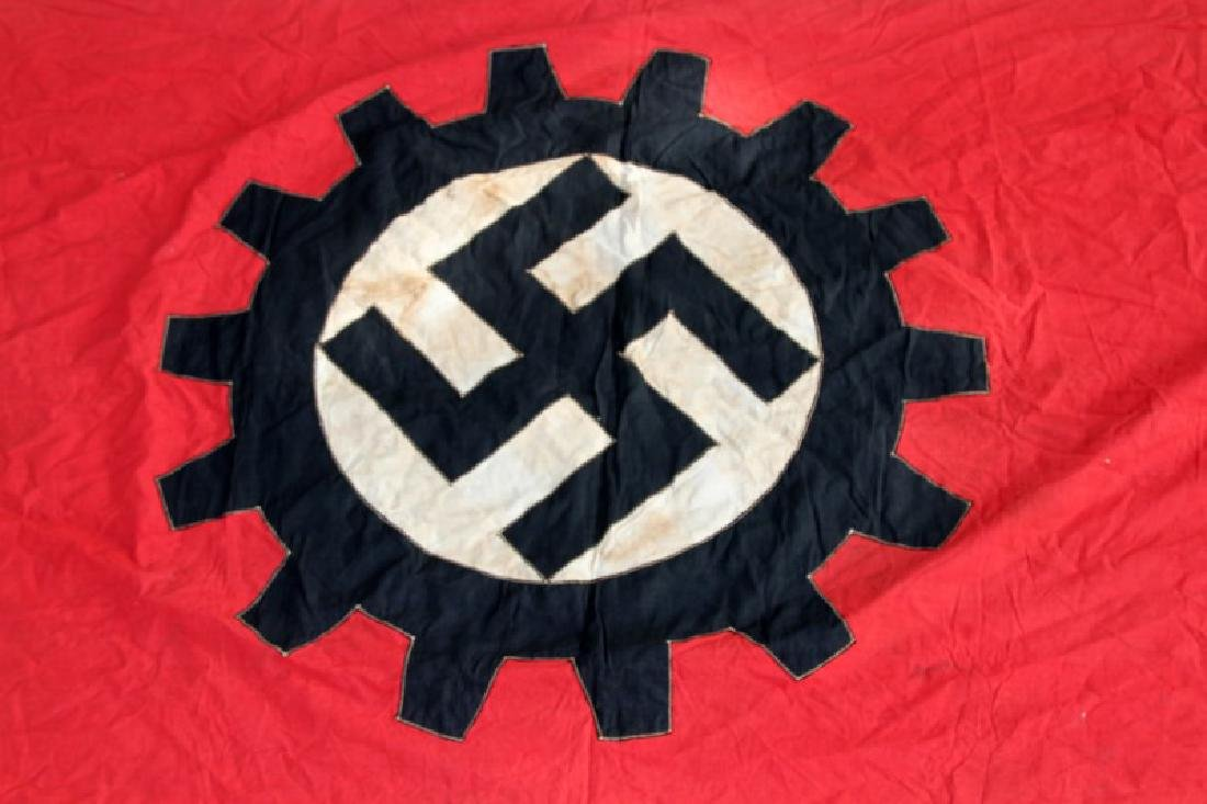 WWII GERMAN THIRD REICH LABOR FRONT COG BANNER - 2