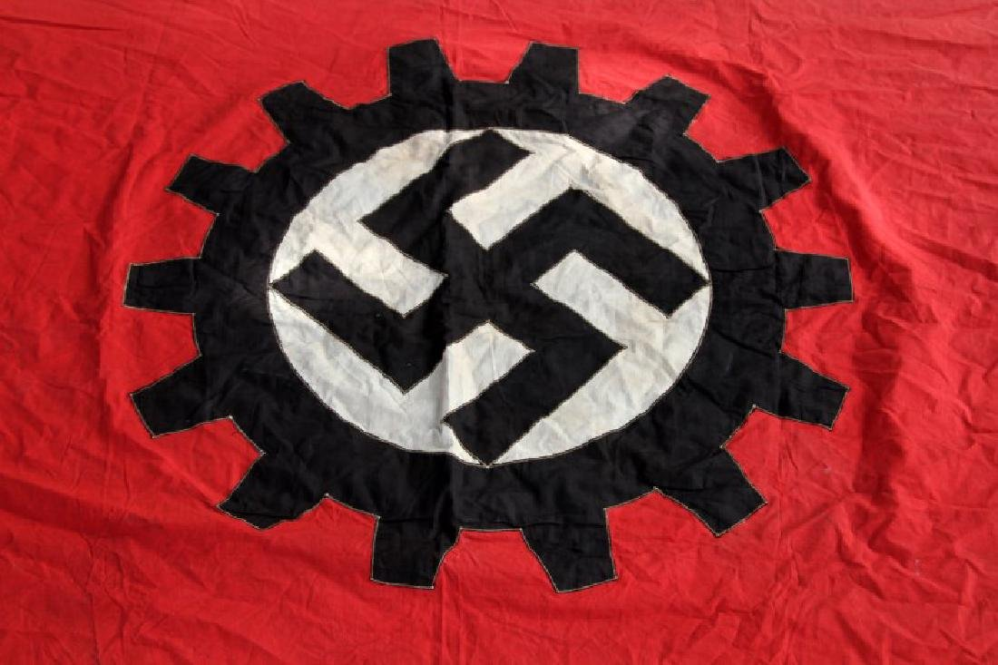 WWII GERMAN THIRD REICH LABOR FRONT COG BANNER - 5