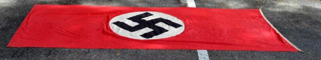 WWII GERMAN THIRD REICH WALL PARTY BANNER FLA G - 2
