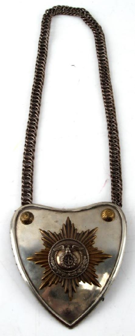 WWII GERMAN THIRD REICH SA GORGET WITH RZM CONTROL