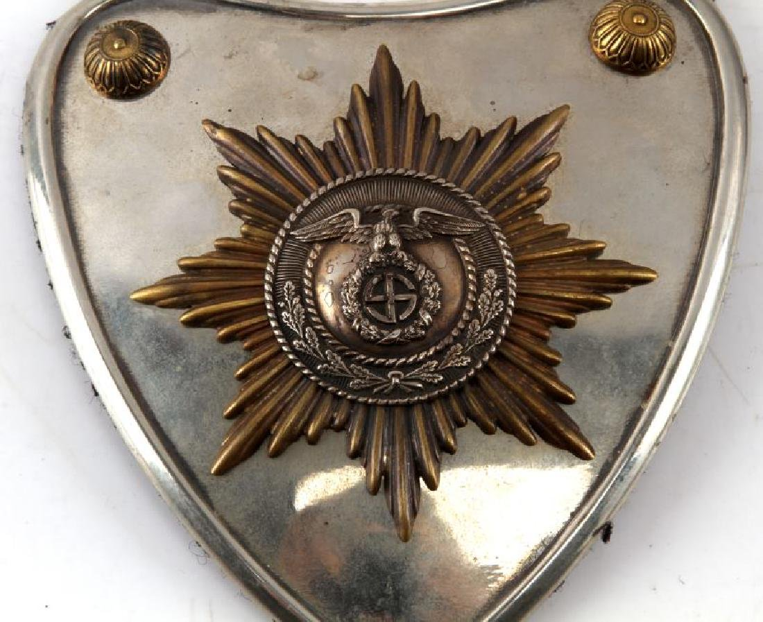 WWII GERMAN THIRD REICH SA GORGET WITH RZM CONTROL - 2