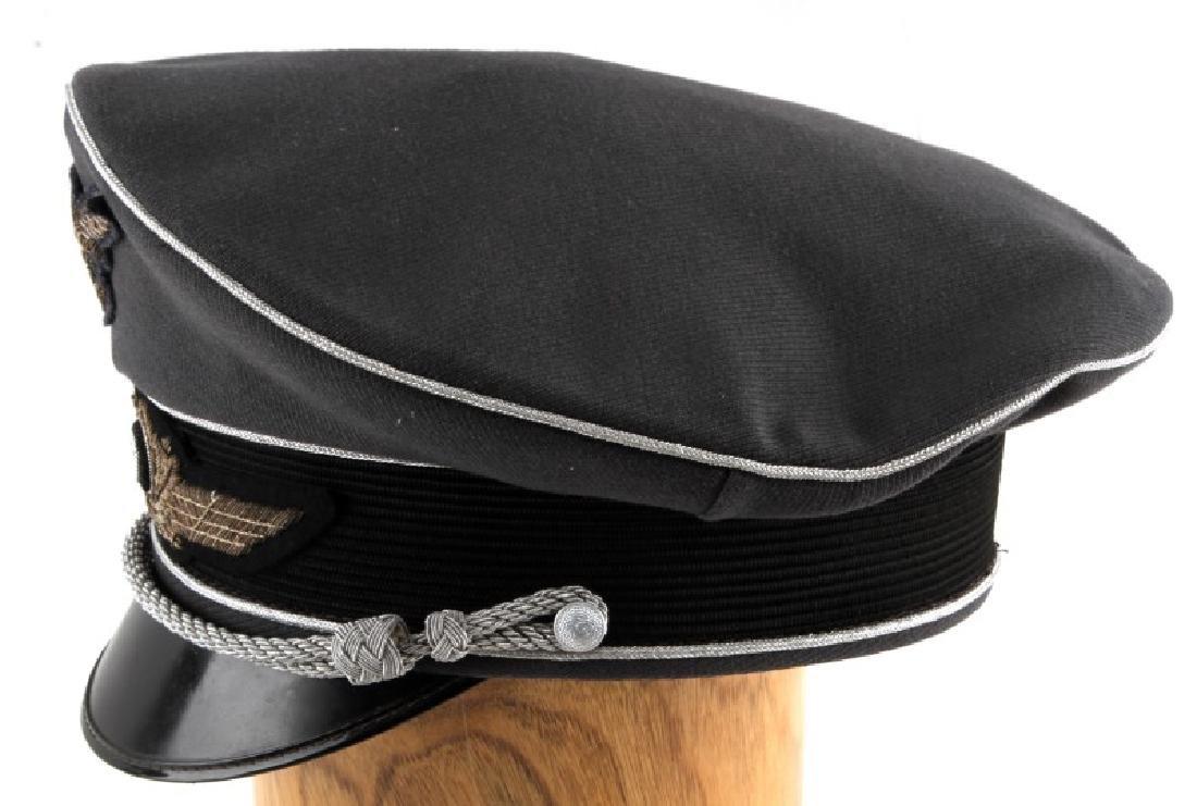 WWII GERMAN 3RD REICH LUFTWAFFE OFFICER VISOR CAP - 3