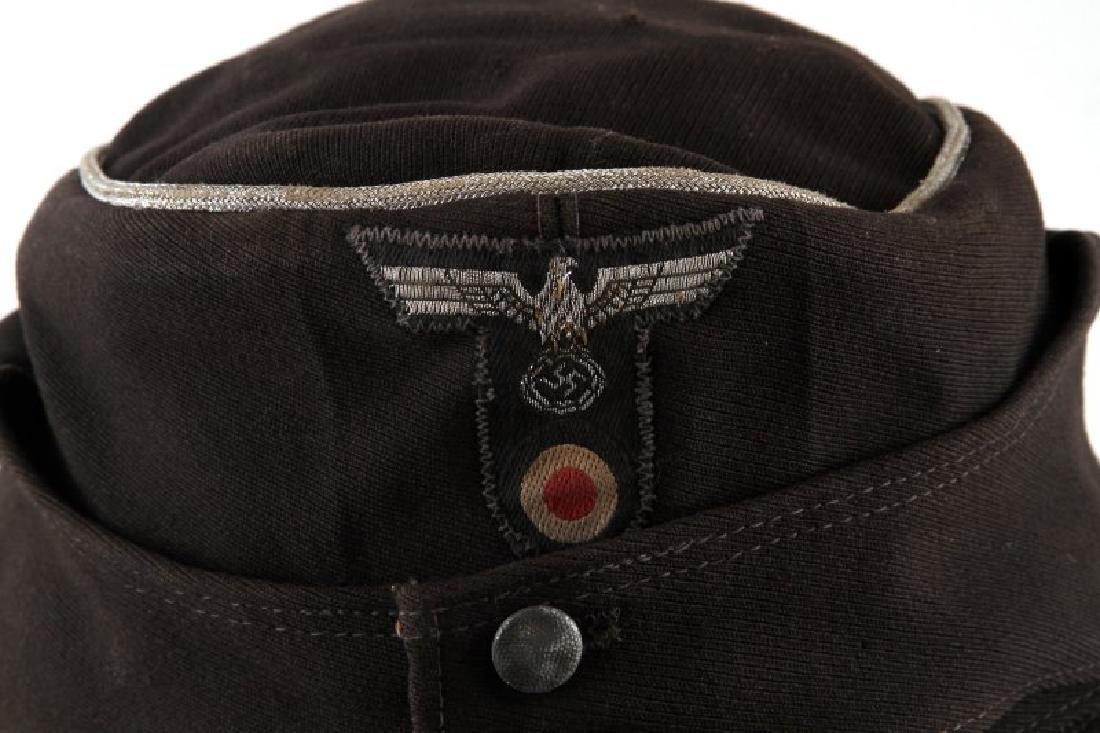 WWII GERMAN THIRD REICH PANZER OFFICER M43 CAP - 2