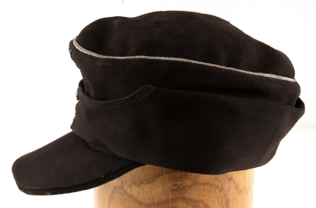 WWII GERMAN THIRD REICH PANZER OFFICER M43 CAP - 3