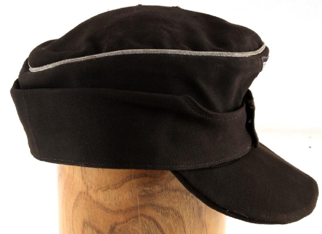 WWII GERMAN THIRD REICH PANZER OFFICER M43 CAP - 5