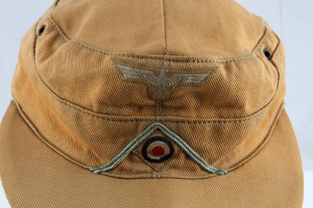 GERMAN THIRD REICH WWII AFRIKA CORPS M-43 CAP - 2