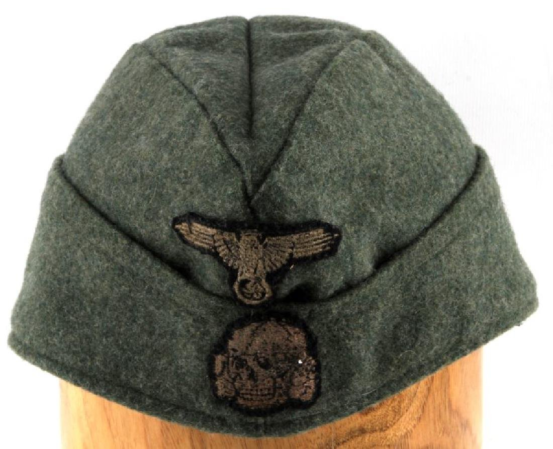 GERMAN WWII WAFFEN SS OVERSEAS CAP WITH NAME