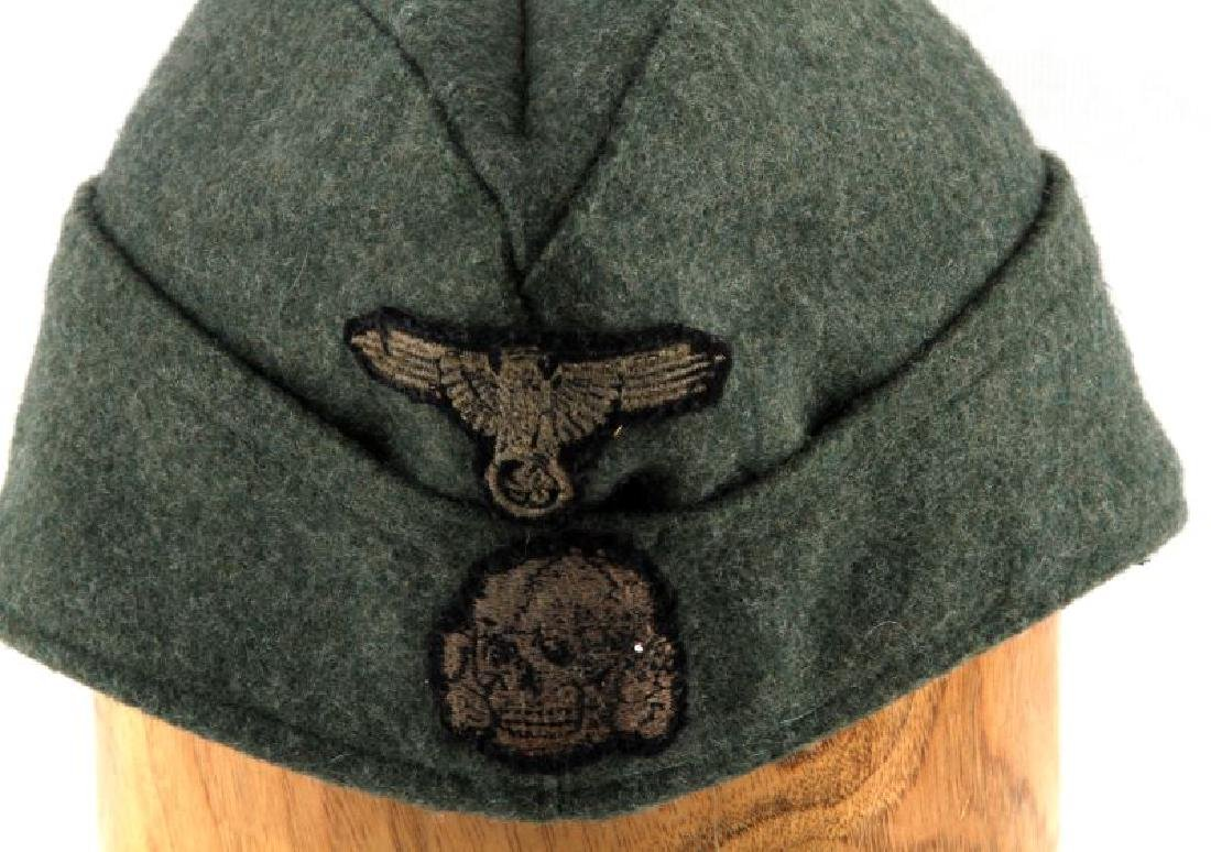 GERMAN WWII WAFFEN SS OVERSEAS CAP WITH NAME - 2