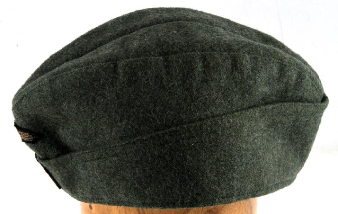 GERMAN WWII WAFFEN SS OVERSEAS CAP WITH NAME - 3