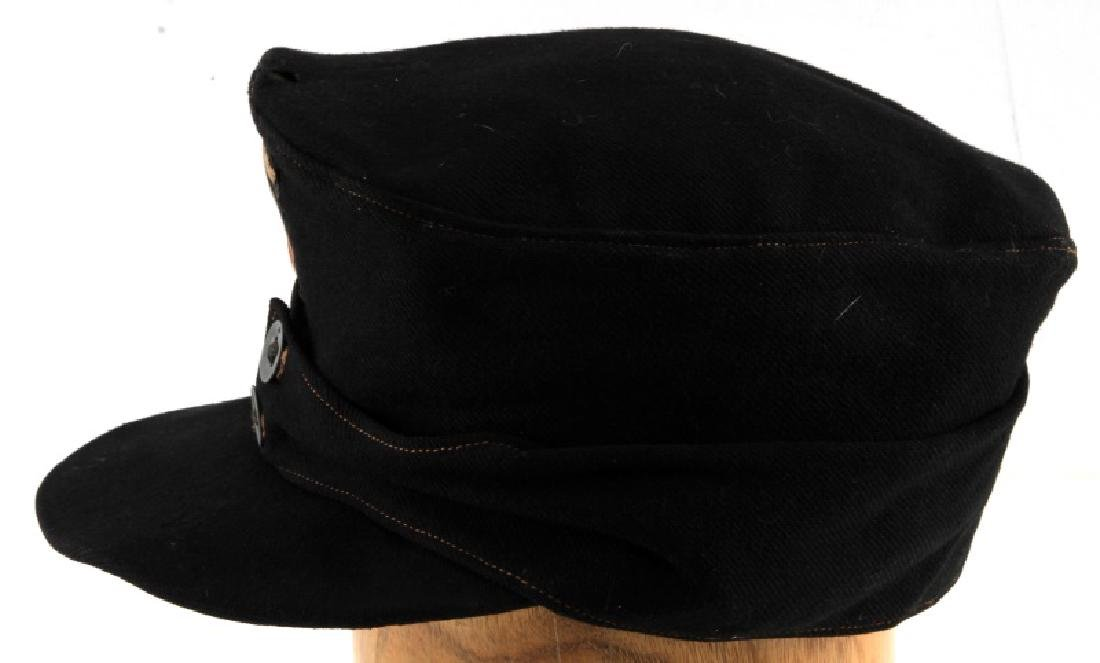 WWII GERMAN THIRD REICH BLACK WOOL M43 FIELD CAP - 3