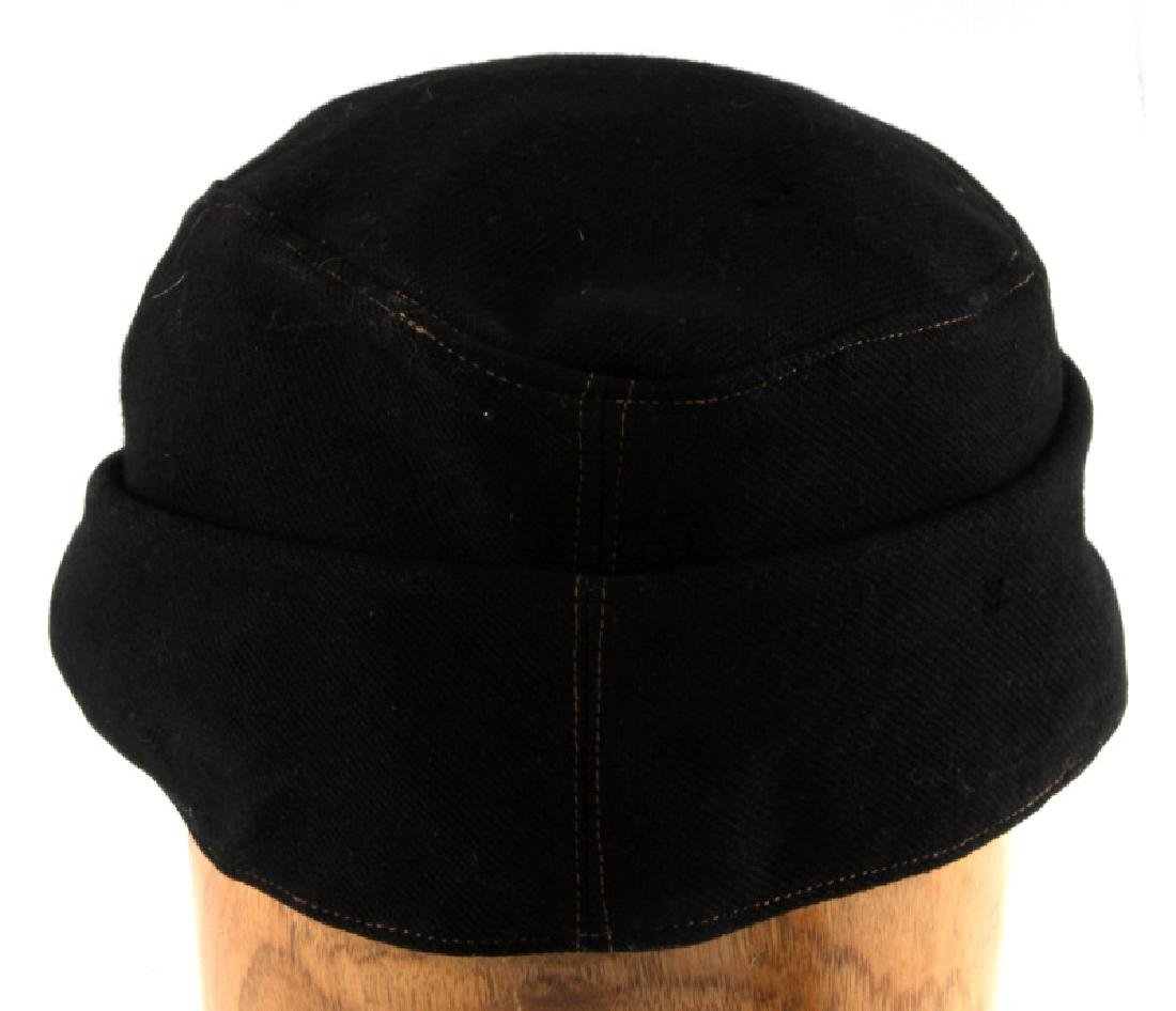 WWII GERMAN THIRD REICH BLACK WOOL M43 FIELD CAP - 4
