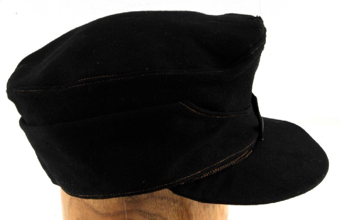 WWII GERMAN THIRD REICH BLACK WOOL M43 FIELD CAP - 5