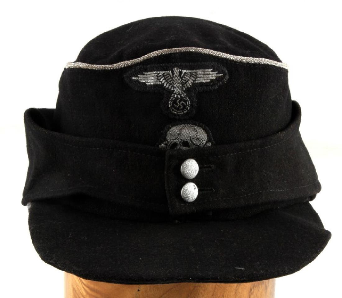 WWII GERMAN THIRD REICH SS PANZER OFFICER M 43 CAP
