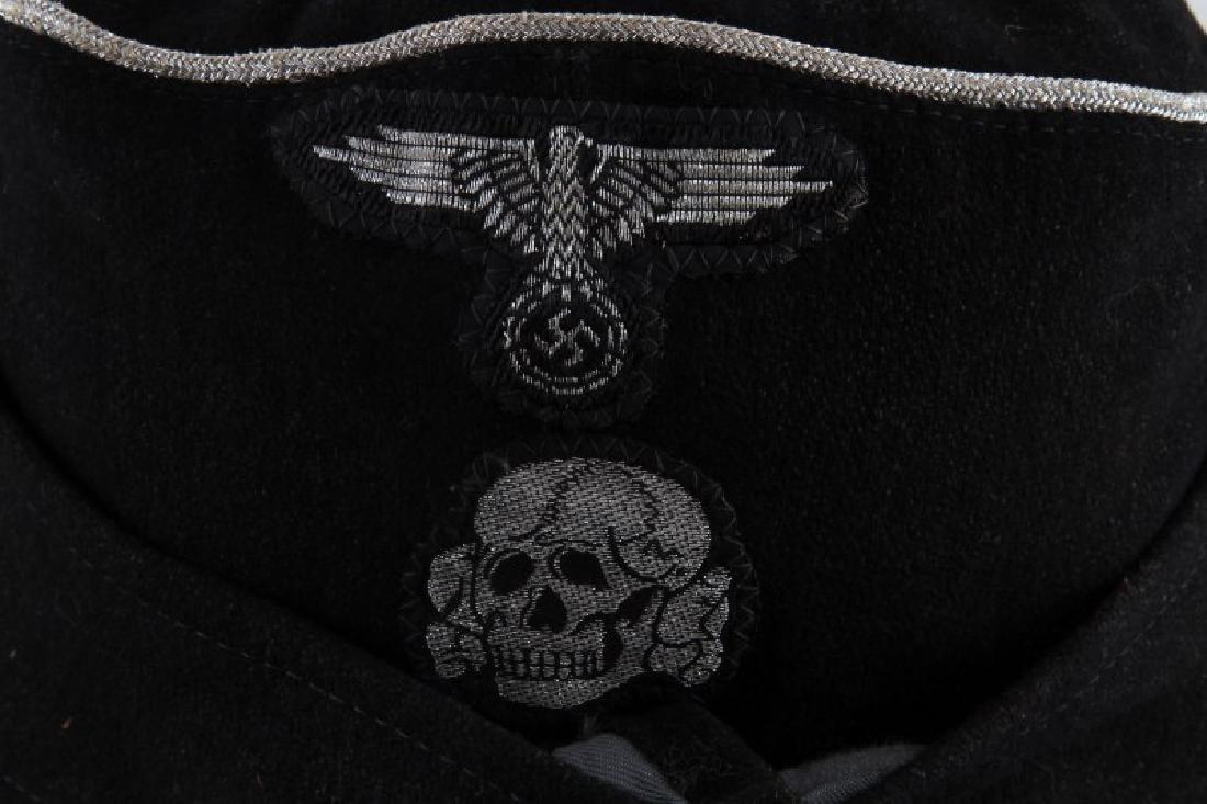 WWII GERMAN THIRD REICH SS PANZER OFFICER M 43 CAP - 2