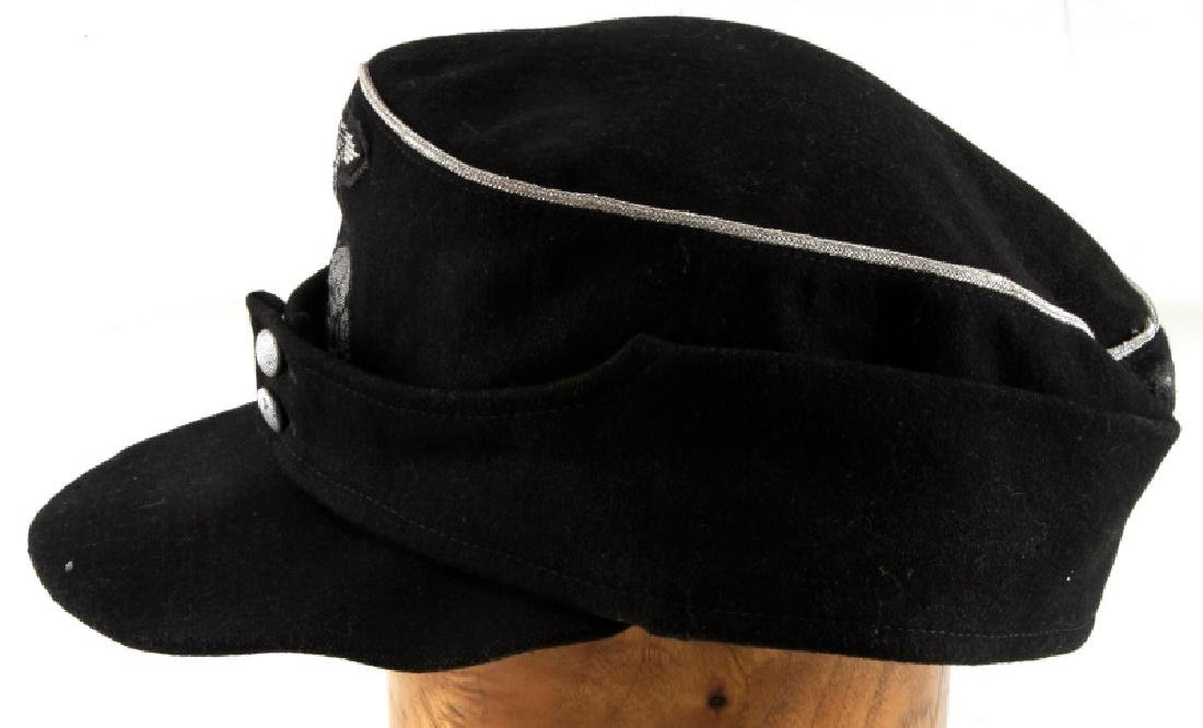 WWII GERMAN THIRD REICH SS PANZER OFFICER M 43 CAP - 3