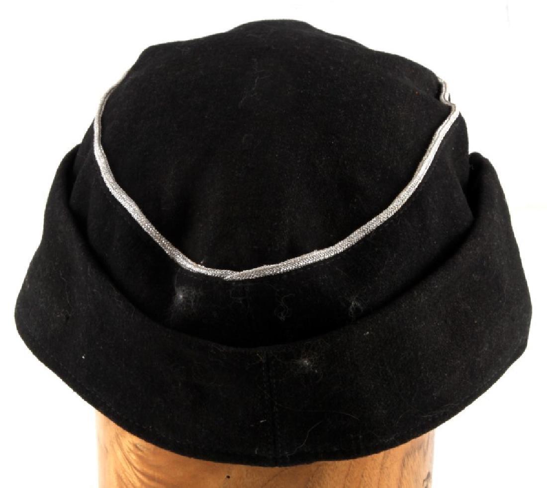 WWII GERMAN THIRD REICH SS PANZER OFFICER M 43 CAP - 4