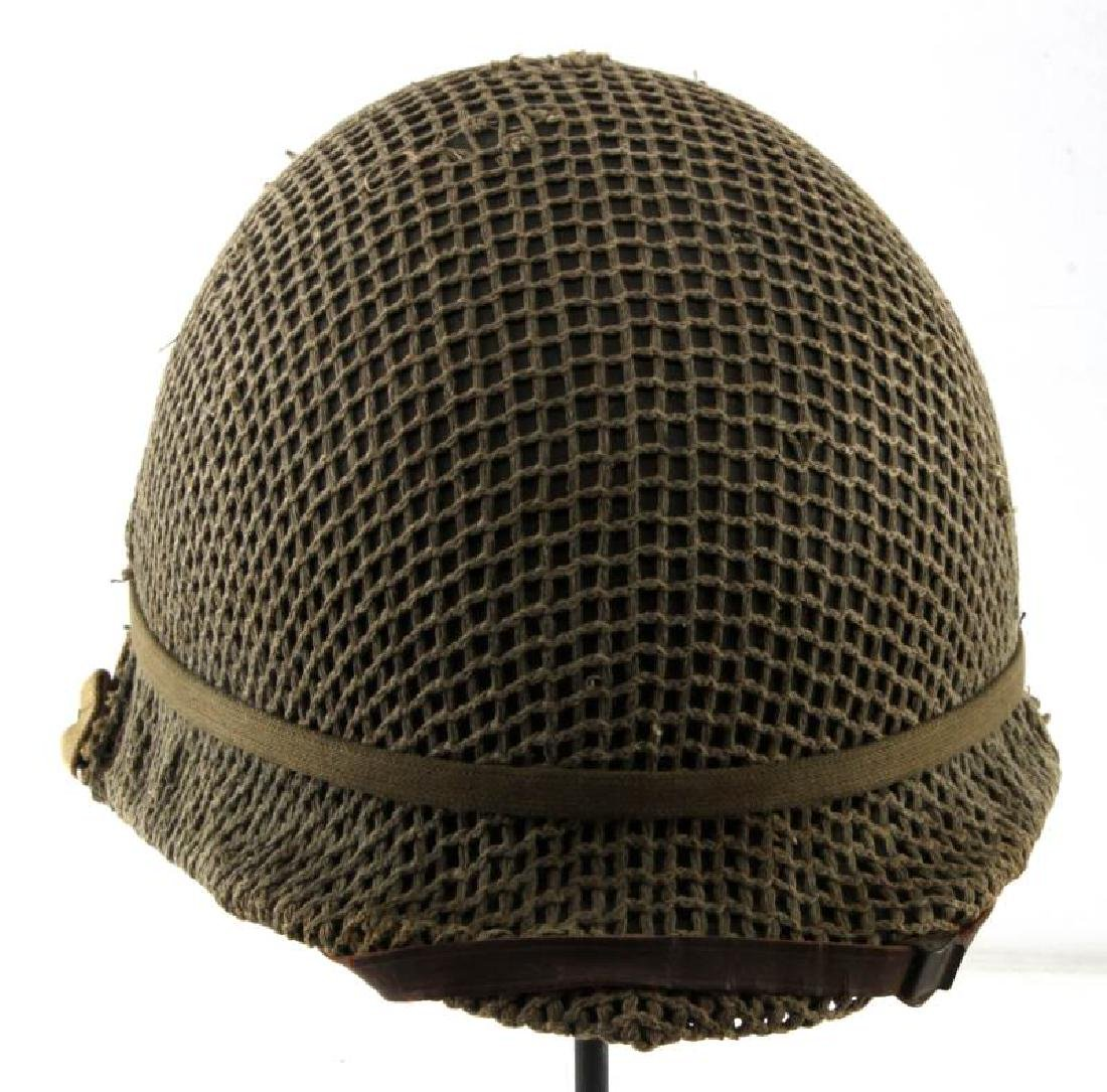 WWII M-1 COMBAT HELMET CAPTAIN BARS NEAR MINT