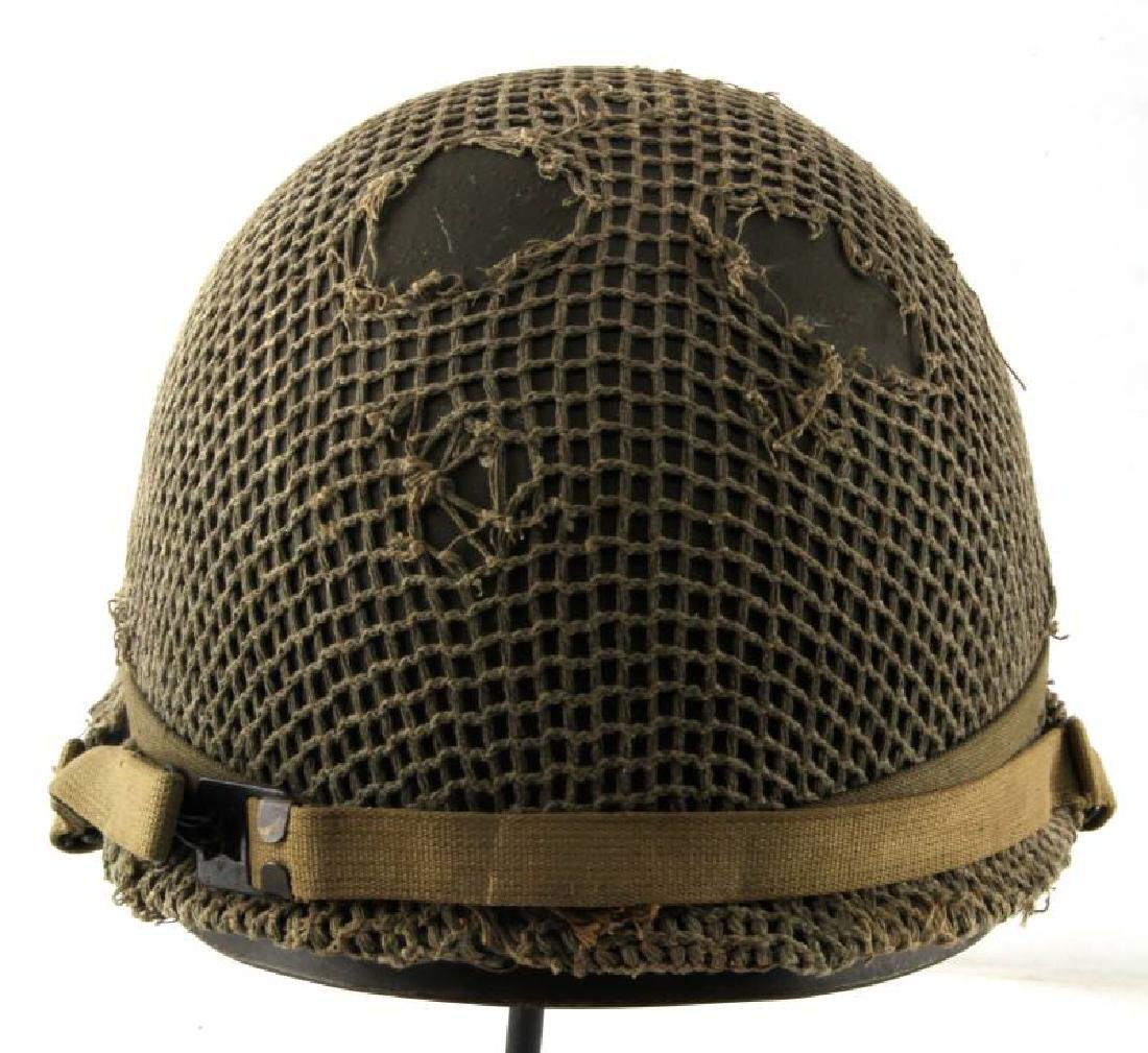 WWII M-1 COMBAT HELMET CAPTAIN BARS NEAR MINT - 3