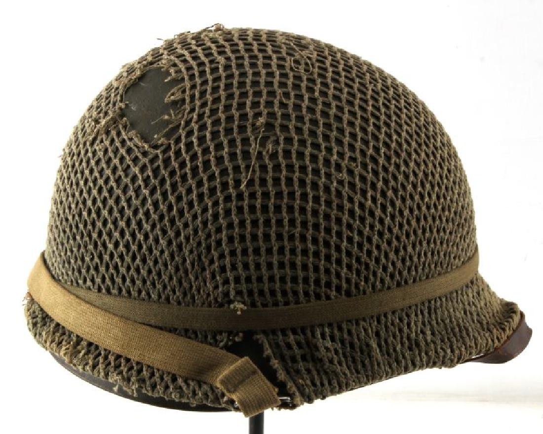 WWII M-1 COMBAT HELMET CAPTAIN BARS NEAR MINT - 4