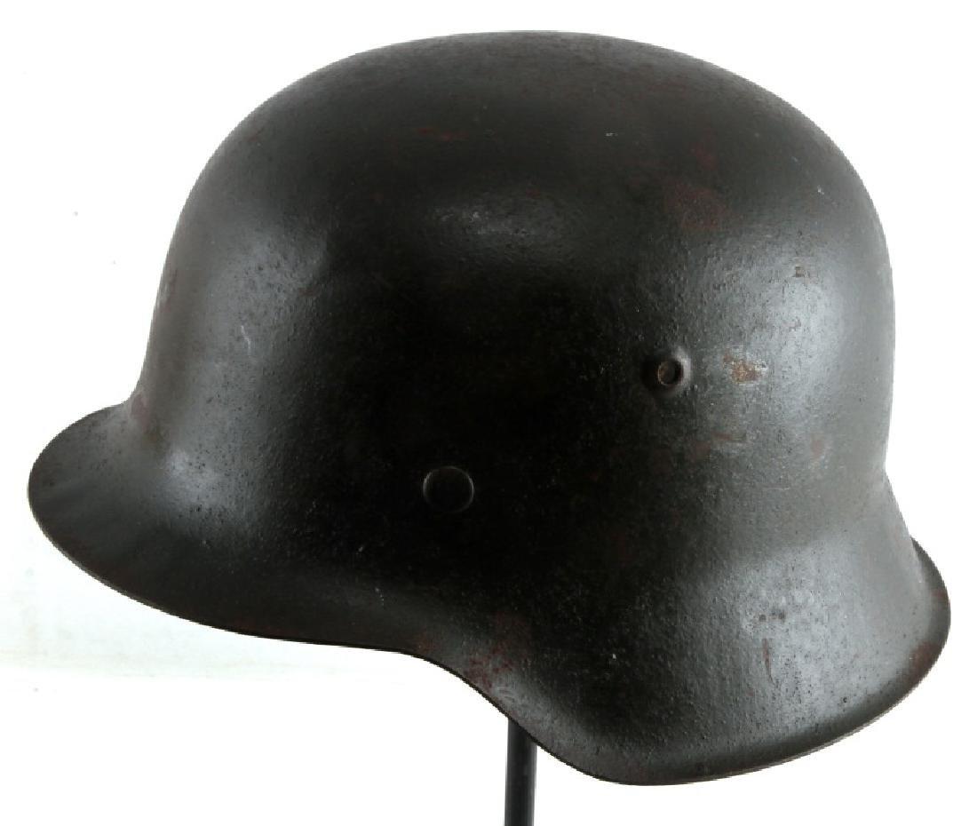 WWII GERMAN THIRD REICH M1942 STAHLHELM HELMET - 2