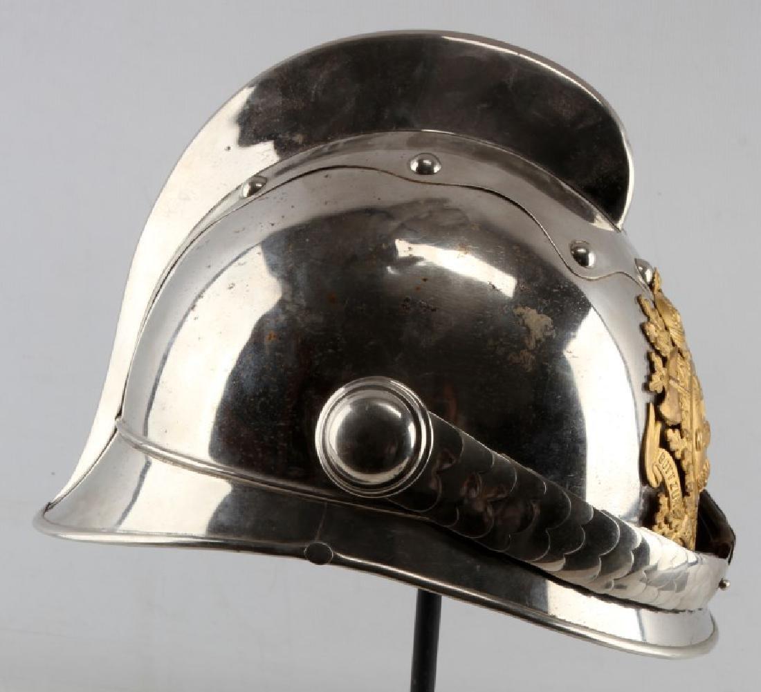 WWI IMPERPIAL GERMAN OFFICERS FIRE HELMET & LINING - 4