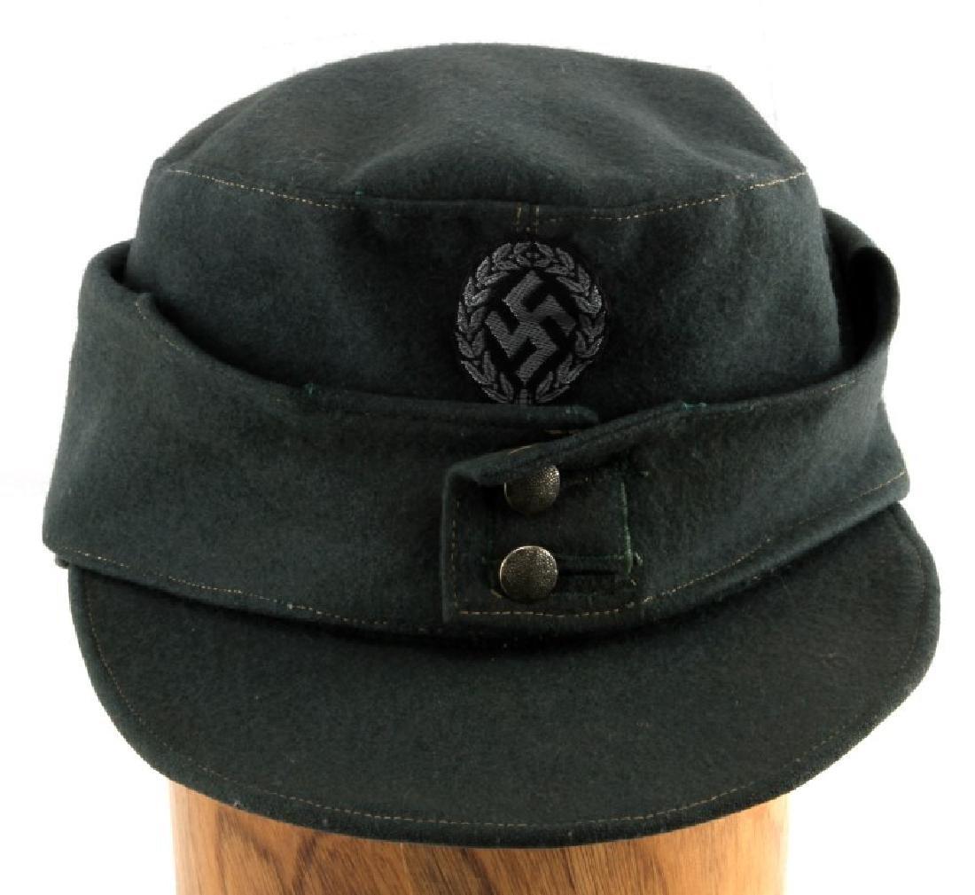 GERMAN WWII M43 SCHUTZMANNSCHAFT FIELD CAP