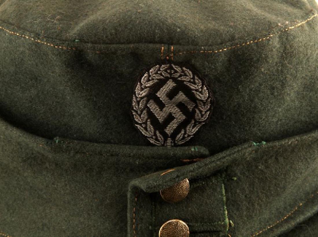 GERMAN WWII M43 SCHUTZMANNSCHAFT FIELD CAP - 2