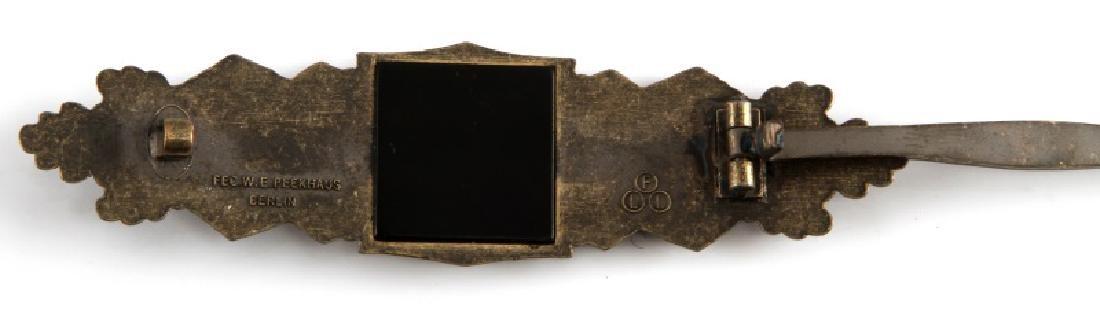 WWII GERMAN THIRD REICH BRONZE CLOSE COMBAT CLASP - 3