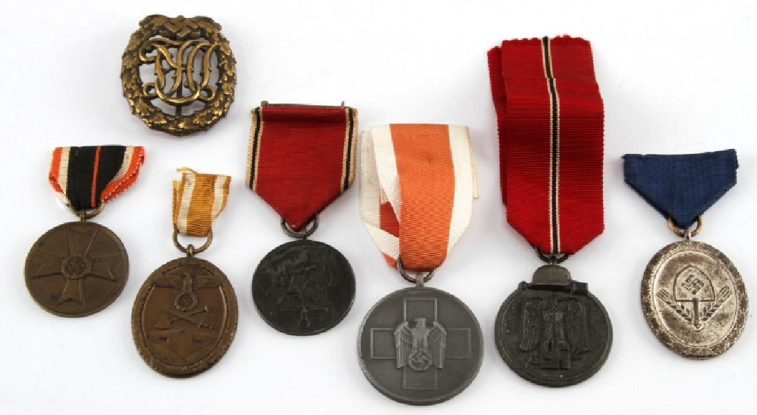 WWII GERMAN THIRD REICH MEDAL LOT OF SEVEN