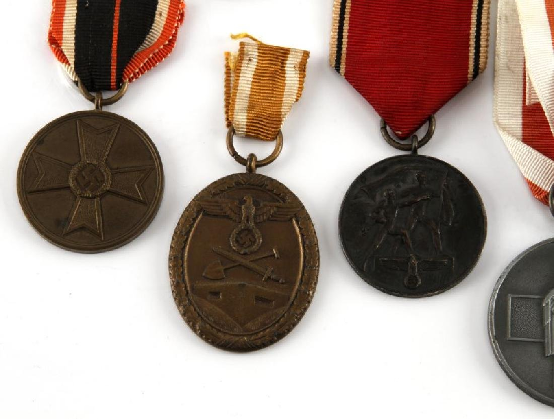 WWII GERMAN THIRD REICH MEDAL LOT OF SEVEN - 2