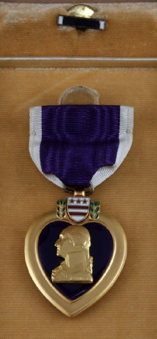 3 PURPLE HEART & 1 BRONZE STAR UNNAMED MEDAL LOT - 3