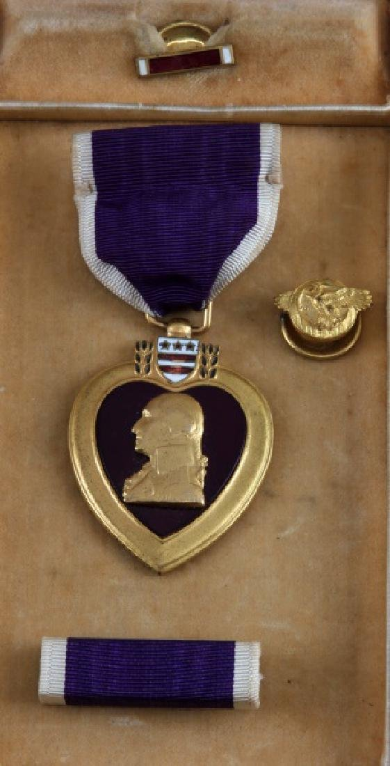 3 PURPLE HEART & 1 BRONZE STAR UNNAMED MEDAL LOT - 4