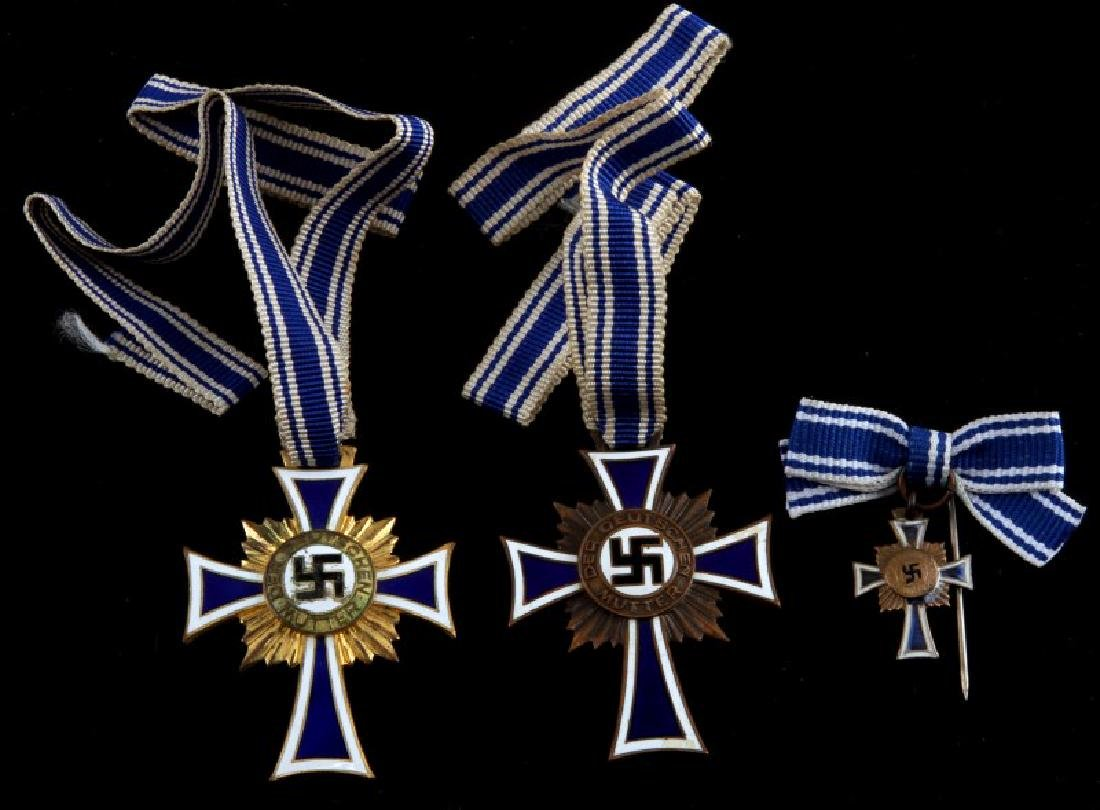 WWII GERMAN THIRD REICH MOTHER'S CROSS LOT OF 3