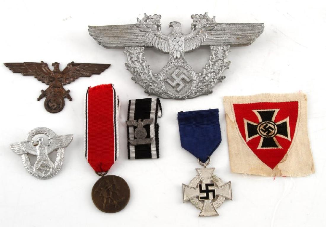 WWII GERMAN THIRD REICH INSIGNIA & MEDAL LOT