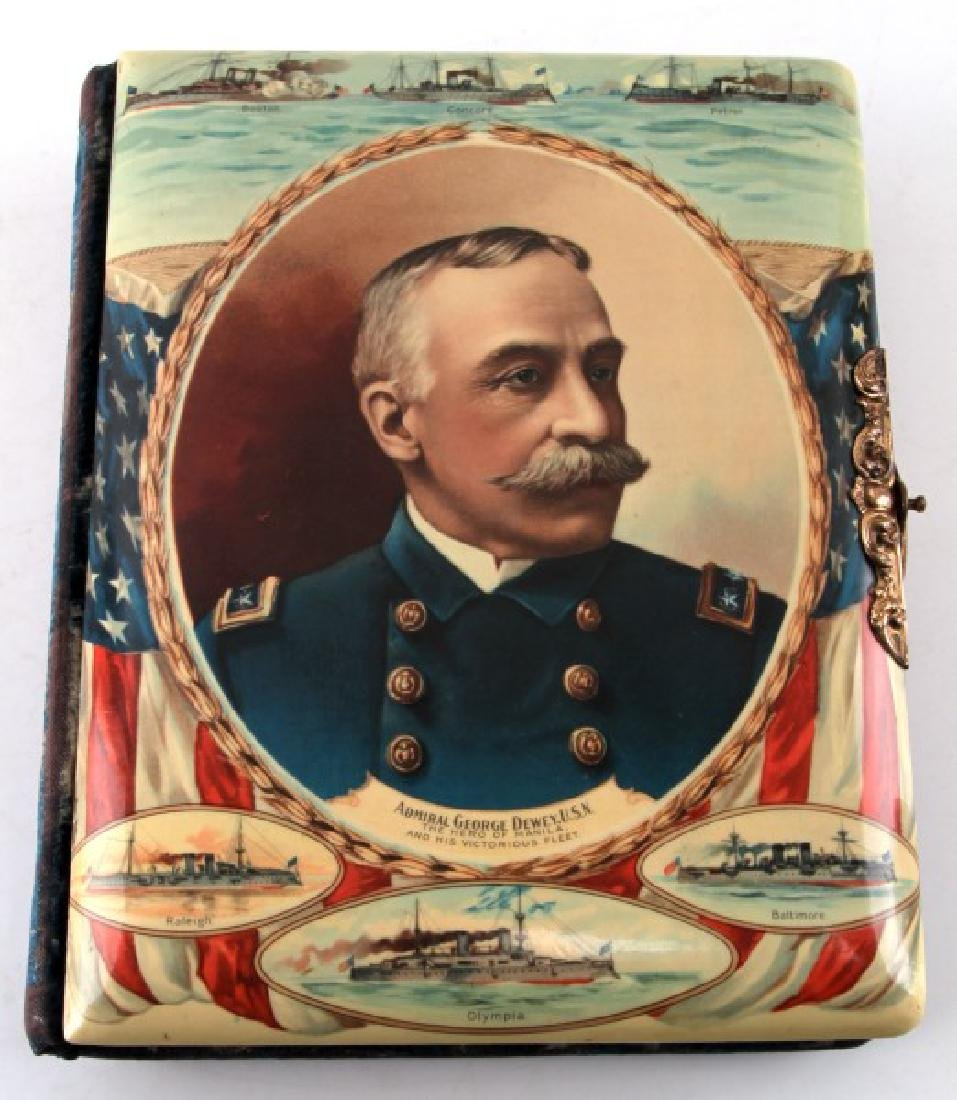 SPANISH AMERICAN WAR DEWEY CELLULOID PHOTO ALBUM