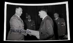 WWII GERMAN THIRD REICH PAUL GIESLER SIGNED PHOTO