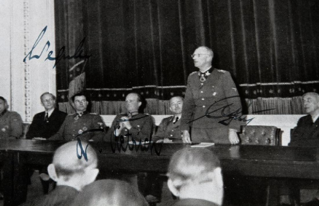 GERMAN WWII PRESS PHOTO W SEPP DIETRICH AUTOGRAPH - 2